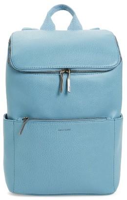 Matt & Nat 'Brave' Faux Leather Backpack - Blue $145 thestylecure.com
