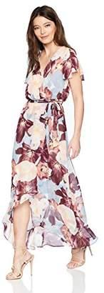Sangria Women's Petite Split Sleeve Maxi Dress