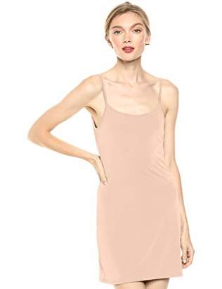August Sky Women's Sleek and Cool Fitted Spaghetti Strap Basic Slip Dress--M