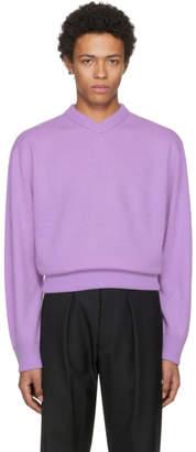 Acne Studios Purple Nander V-Neck Sweater