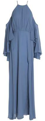 Milly Cold-Shoulder Silk-Satin Gown