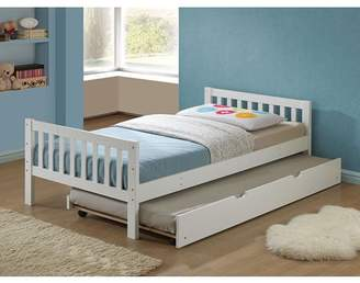 ACME Furniture ACME Cutie Twin Bed with Slat System in White Solid Wood