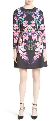 Women's Ted Baker London Lost Garden Fit & Flare Dress $315 thestylecure.com