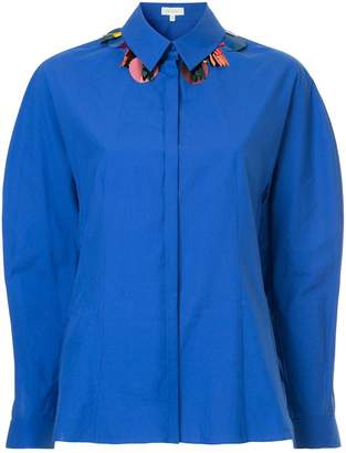 DELPOZO embellished collar shirt