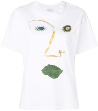 Paul Smith face print T-shirt