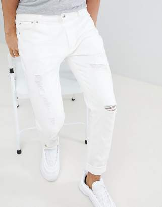 D-Struct Skinny Destroyed Ripped Jeans