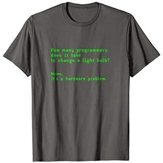 How Many Programmers Takes To Change Light Bulb Joke T Shirt