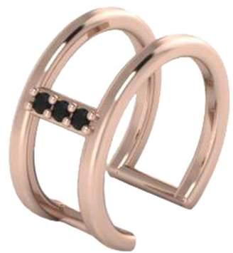 Black Diamond Antoanetta 14k Rose Gold Ear Cuff
