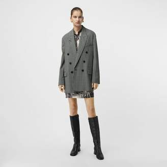 Burberry Prince of Wales Check Wool Oversized Jacket