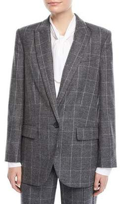 Equipment James Scholastic Plaid Wool Blazer