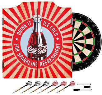 D+art's Trademark Gameroom Coke Dart Cabinet Set With Darts and Board