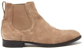 Ermenegildo Zegna Suede Chelsea Boots - Mens - Tan