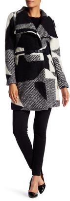 Desigual Sidney Faux Leather Trim Coat $349 thestylecure.com