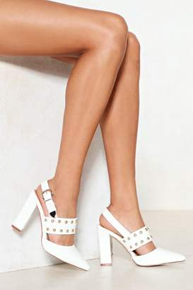 Nasty Gal Stud Up For What You Believe in Faux Leather Heel