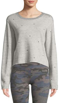 Sundry Raw-Edge Embellished Boxy Sweatshirt
