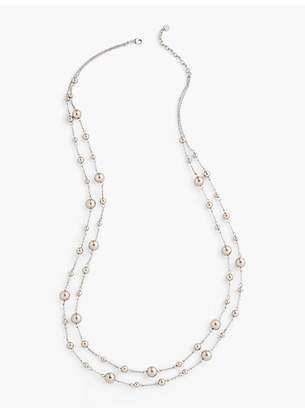 Talbots Delicate Double-Layer Necklace