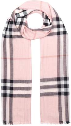 Burberry Silk and Wool Ombre Check Scarf
