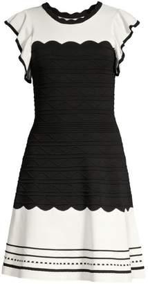 Shoshanna Tami Colorblock Fit-& Flare Dress