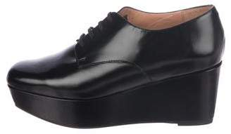 Robert Clergerie Lace-Up Leather Wedges
