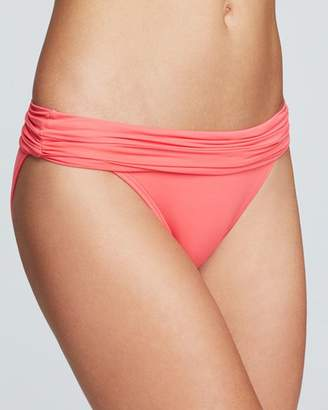 Carmen Marc Valvo Shirred Banded Bikini Bottom