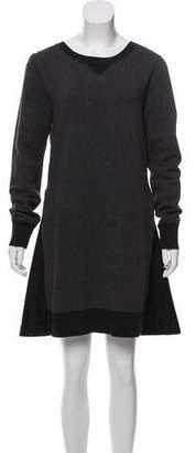 Sacai Pleat-Accented Sweatshirt Dress