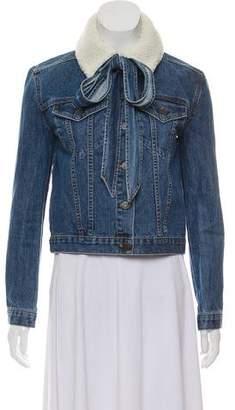Veronica Beard Button-Up Denim Jacket