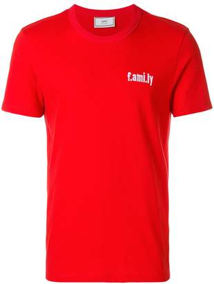 Ami Alexandre Mattiussi crewneck T-shirt with white family embroidery