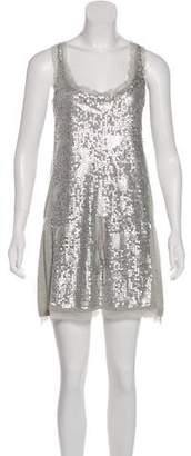 Magaschoni Silk Sequin Dress
