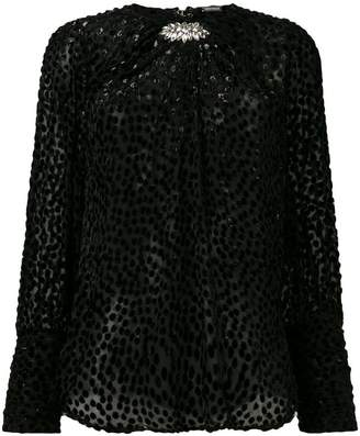 Dodo Bar Or sheer dotted blouse
