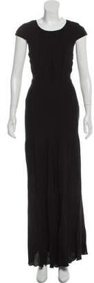 L'Agence Cap Sleeve Maxi Dress