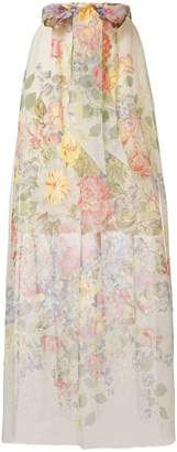 Gucci floral print sheer skirt