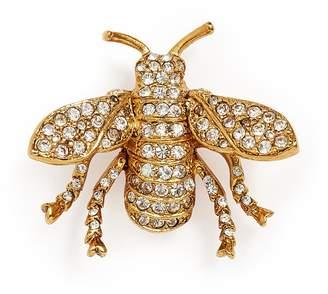 Kenneth Jay Lane Glass crystal bug brooch