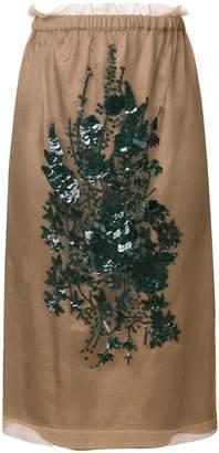 No.21 embroidered skirt