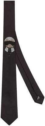 Fendi Karlito embellished tie