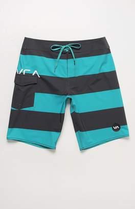 """RVCA Uncivil 20"""" Striped Boardshorts"""