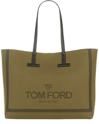 Tom Ford Large Canvas Tara Tote Bag