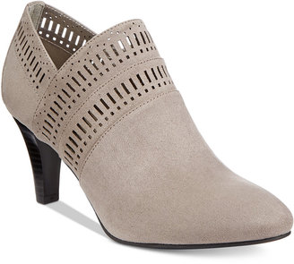 Karen Scott Marius Perforated Dress Booties, Only at Macy's $69.50 thestylecure.com