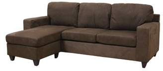 ACME Furniture ACME Vogue Sectional Sofa, Chocolate Microfiber