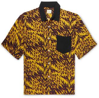 Aries Camp-Collar Printed Woven Shirt