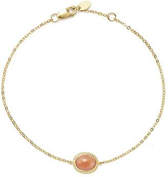 Bloomingdale's Coral Oval Bracelet in 14K Yellow Gold - 100% Exclusive