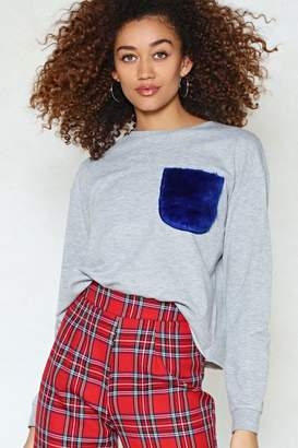 Nasty Gal Fur-Give and Fur-Get Faux Fur Sweatshirt