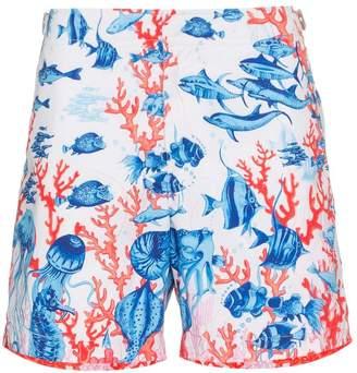 Orlebar Brown Bulldog fish print swim shorts