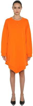 MM6 MAISON MARGIELA Oversized Cotton Sweatshirt Dress