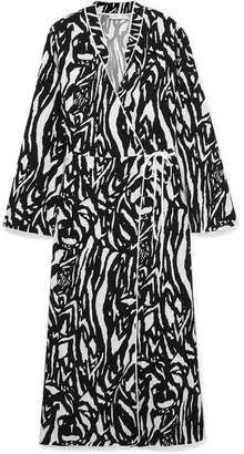 RIXO London - Cindy Zebra-print Crepe Wrap Dress - Zebra print