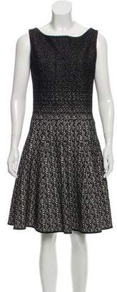 Prada Jacquard Fit & Flare Dress