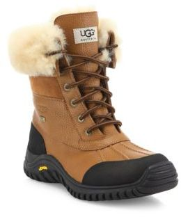 UGG Adirondack II Lace-Up Shearling-Lined Leather Boots $225 thestylecure.com