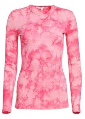 Proenza Schouler PSWL PSWL Women's Stretch Cotton Tie-Dye Tee - Orchid Pink Tie Dye - Size XS