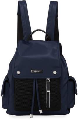 Calvin Klein Tali Nylon & Mesh Backpack Bag