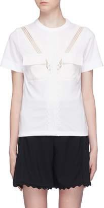 Chloé Chest pocket lace trim T-shirt