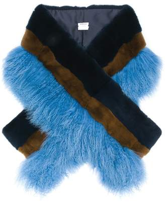 P.A.R.O.S.H. two tone fur stole